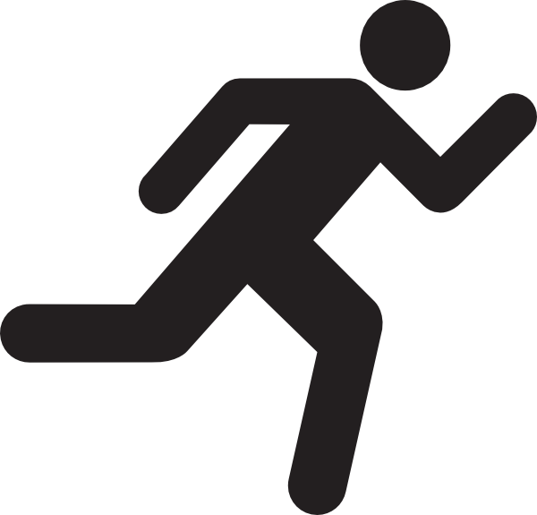 Running Man Stick Figure Clip Art