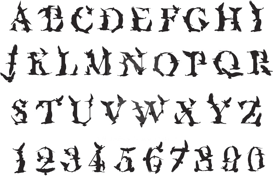 13 Horror Alphabet Fonts Images