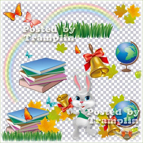 School Clip Art with Transparent Background
