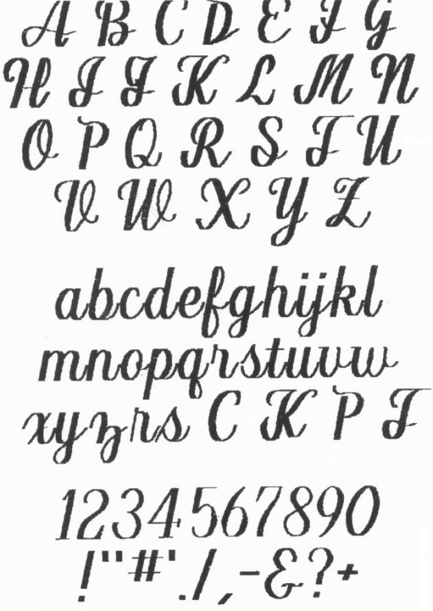 Script Fonts Alphabet Letters