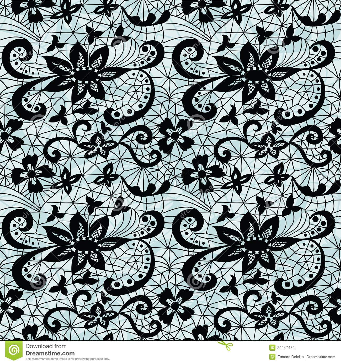 Seamless Vector Lace Patterns
