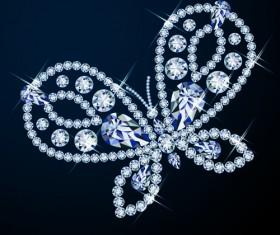 Shiny Diamond Butterfly Backgrounds
