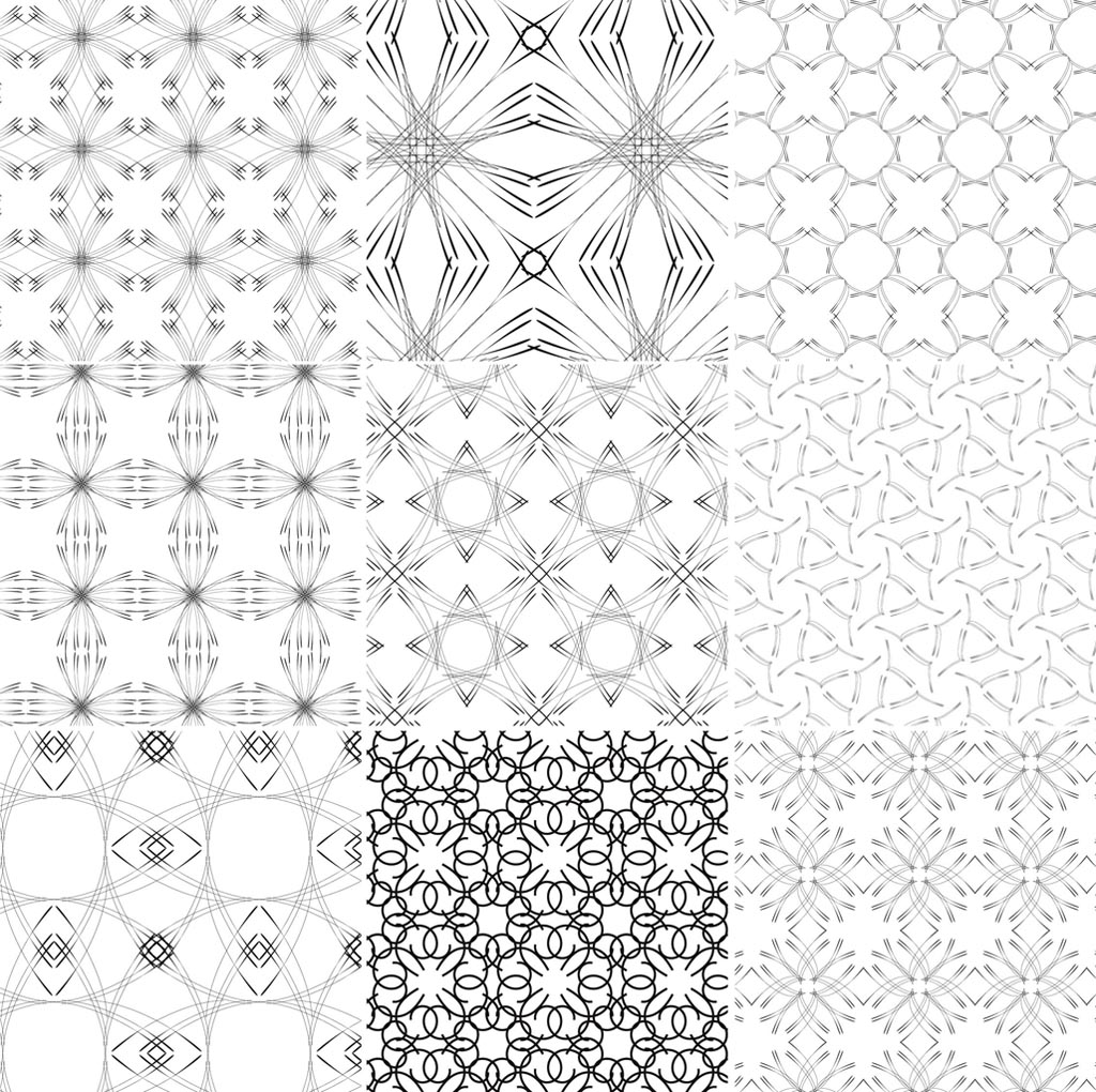 Line Art Patterns : Line patterns vector images simple design