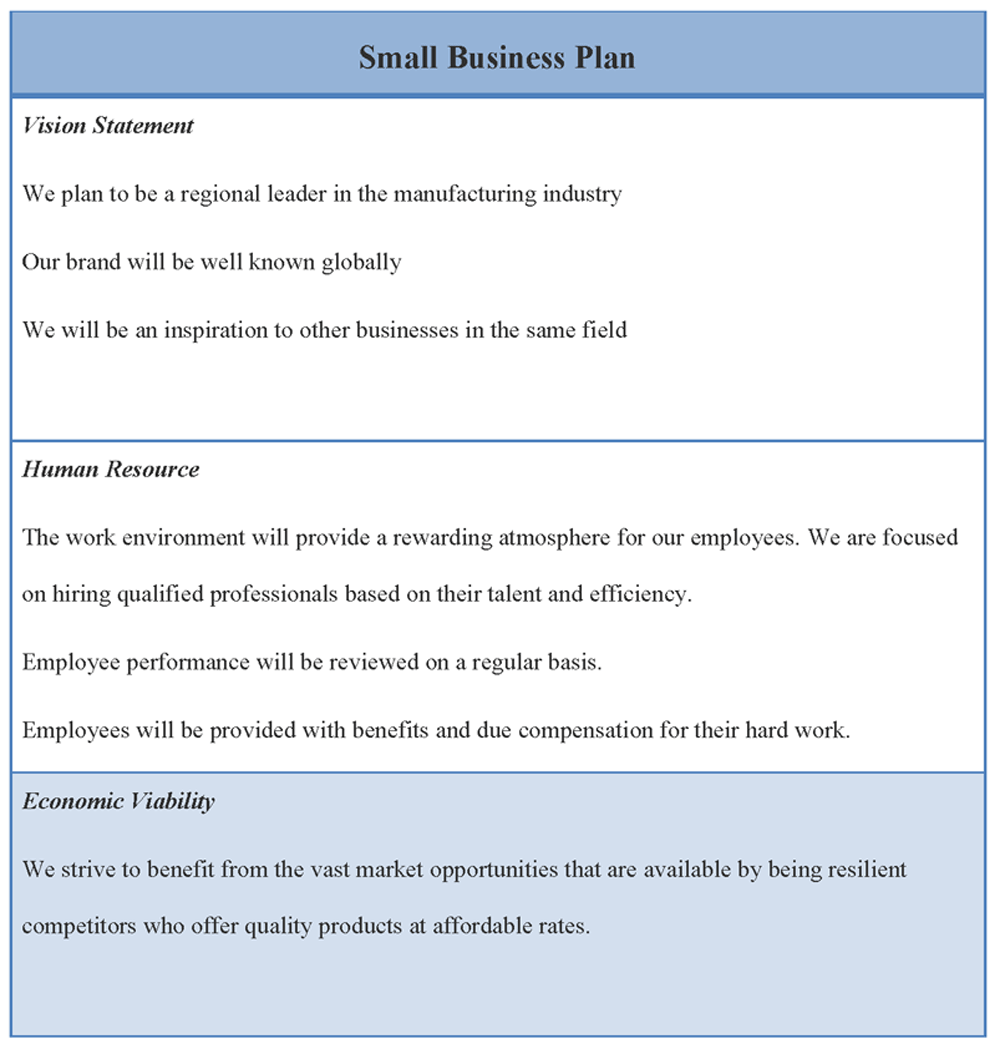 16 Small Business Plan Template Images Small Business Plan