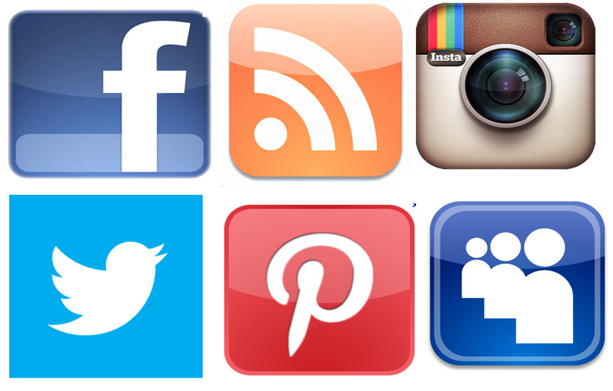 Social Media Facebook Twitter Instagram Icons
