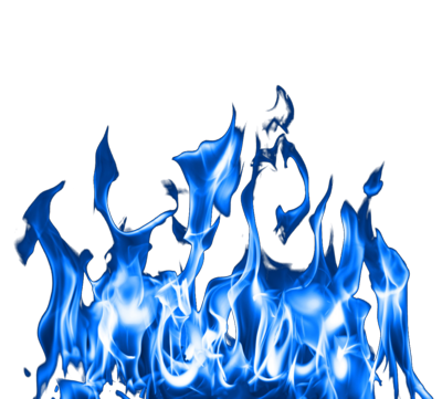 Transparent Blue Fire Flames