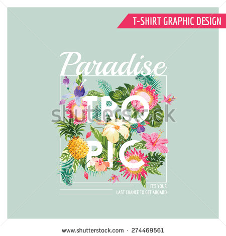 Tropical Flower T-Shirt Designs