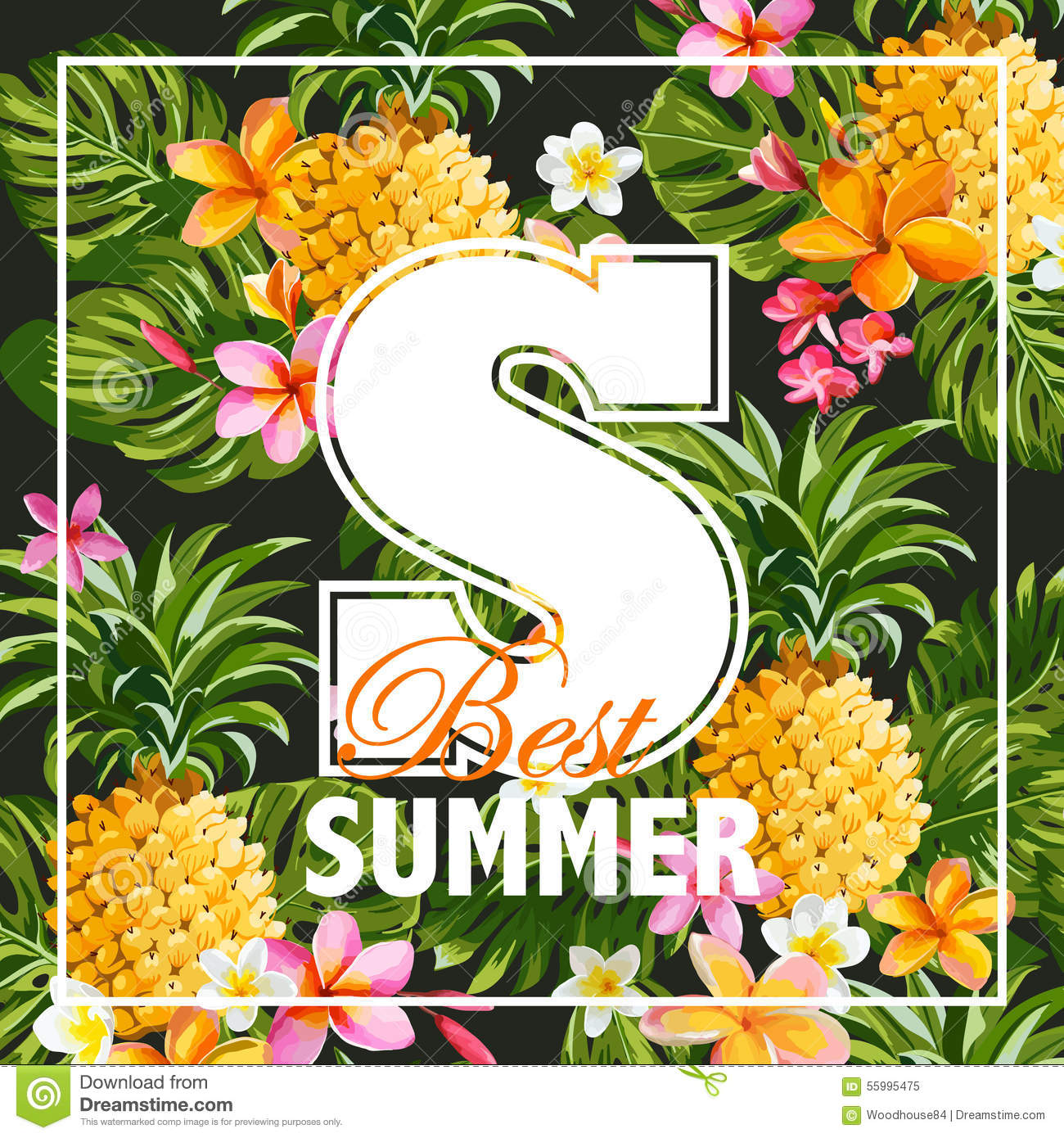 Tropical Flowers Graphic Design