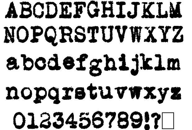 13 Fonts That Look Like Old Typewriter Images - Font That