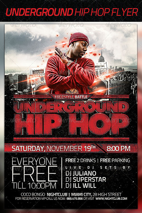 Underground Hip Hop Flyer