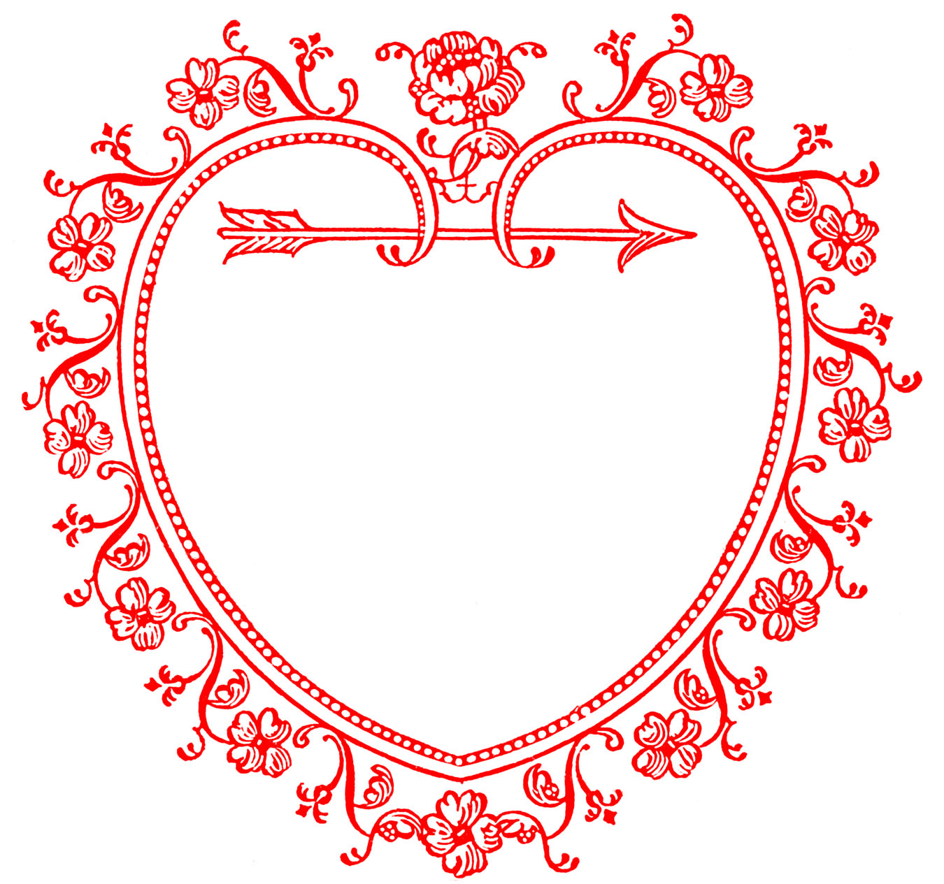 Valentine Heart Frame Clip Art
