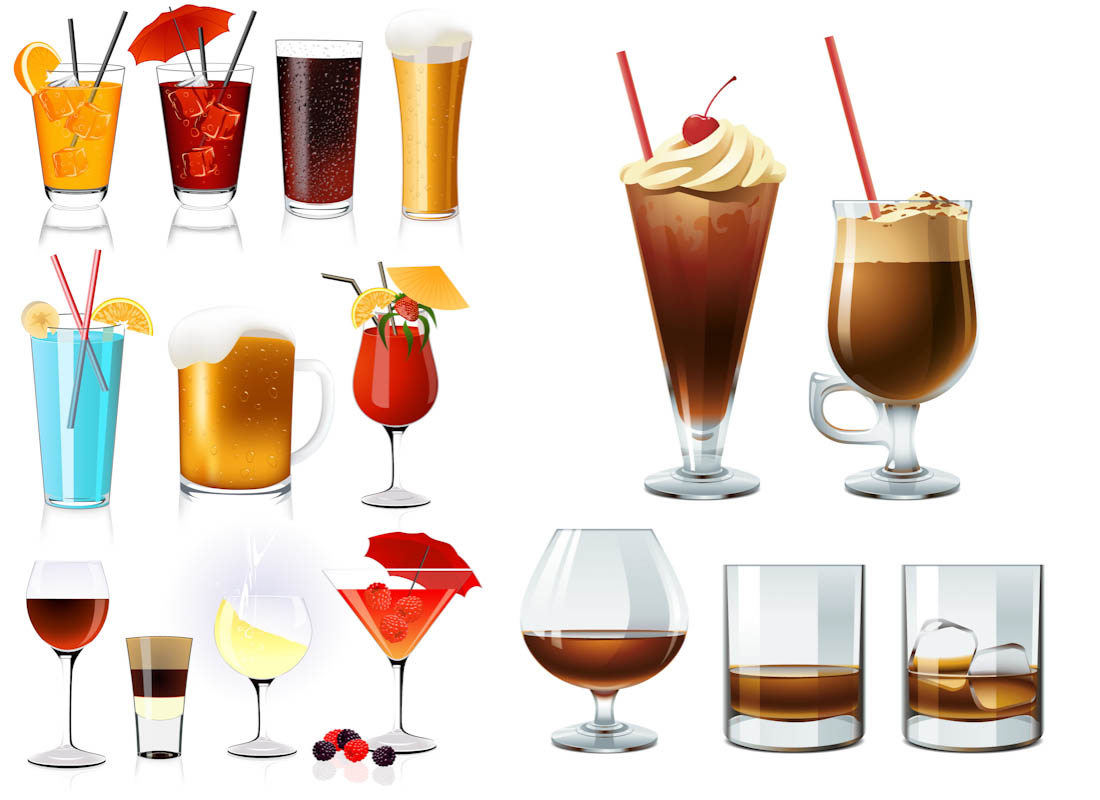 14 Free Vector Free Refreshments Images Cocktails And