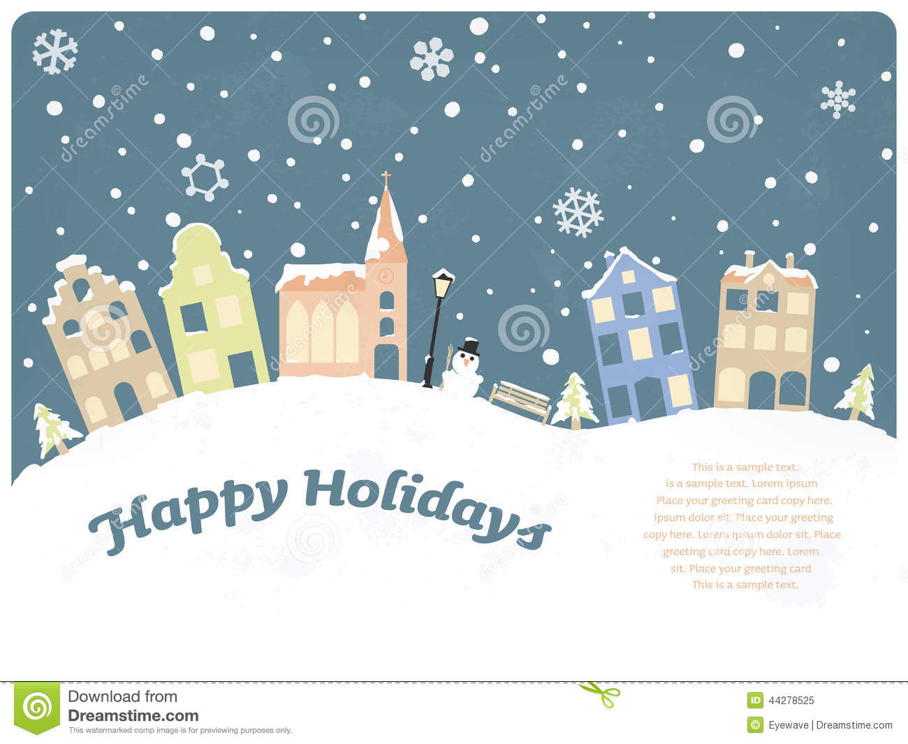 17 Happy Holidays Greeting Card Vector Images Happy Holidays