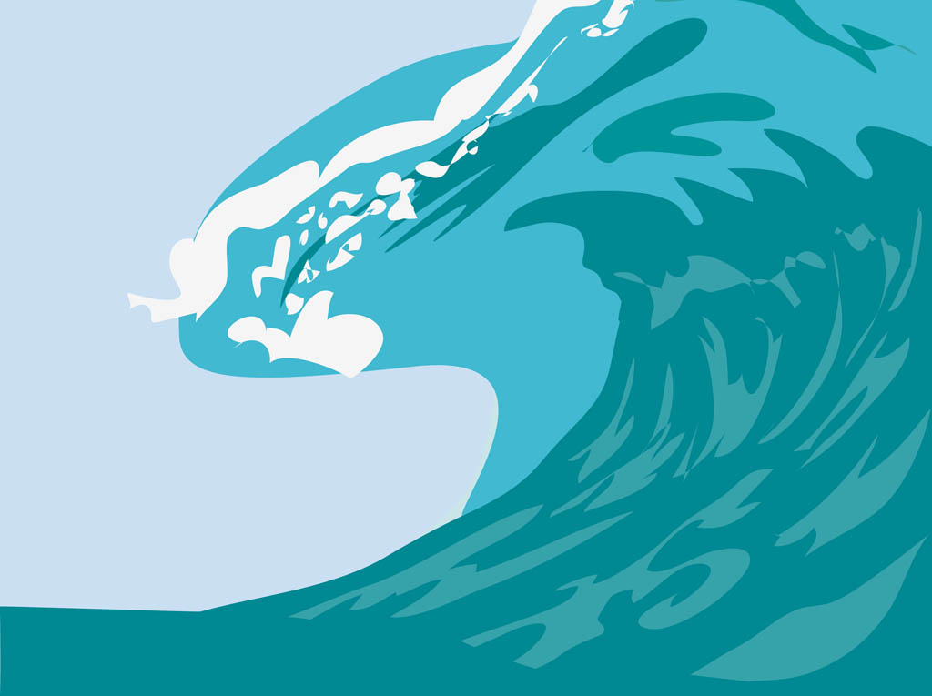 Vector Ocean Wave Clip Art
