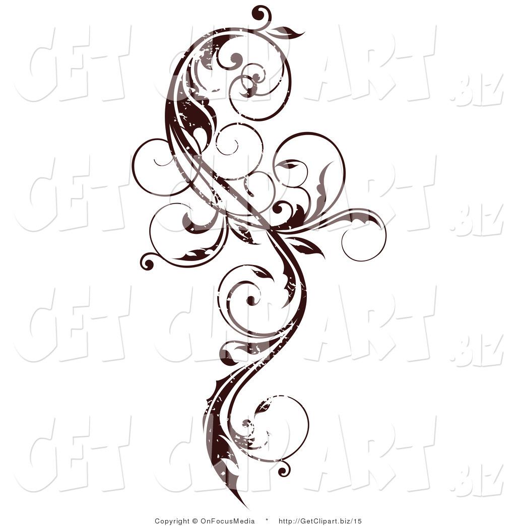Vine Scroll Clip Art
