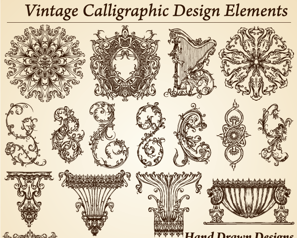 13 Photoshop Elements Vintage Design Images