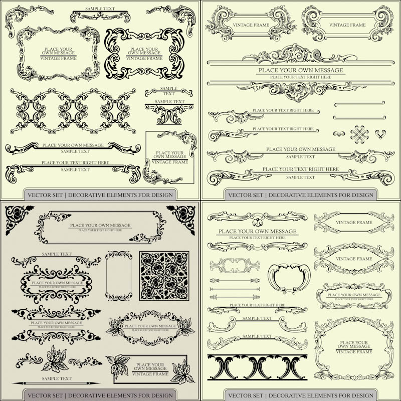 Vintage Decorative Elements