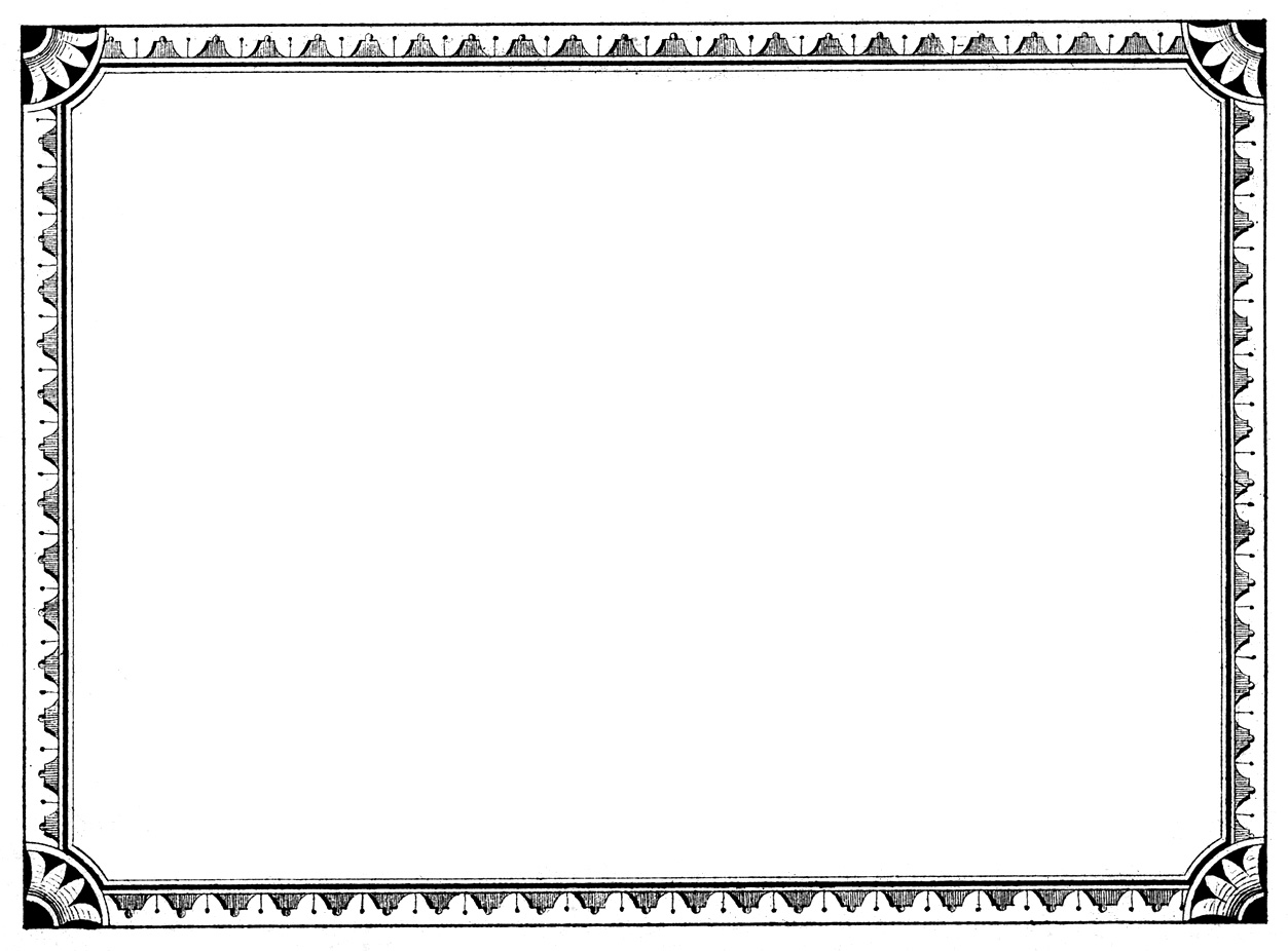 Vintage Label Border Clip Art