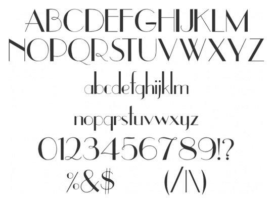 Vintage Style Number Fonts