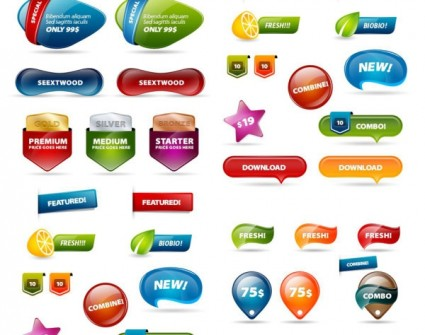 Web Design Buttons PSD Free Download