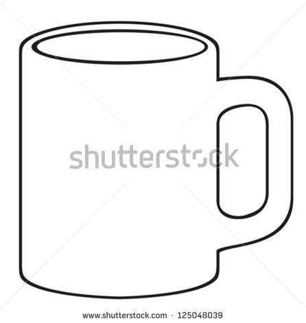 coffee mug template printable bing images. Black Bedroom Furniture Sets. Home Design Ideas