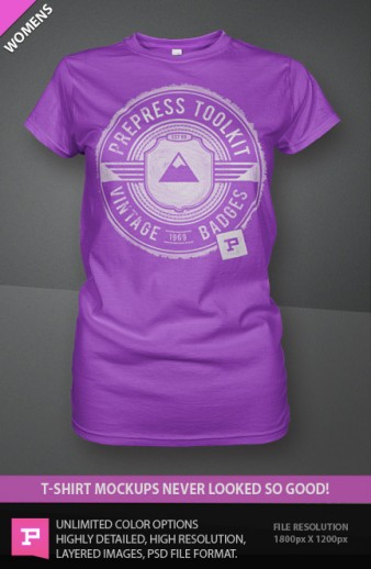 Women's T-Shirt Mockup Templates