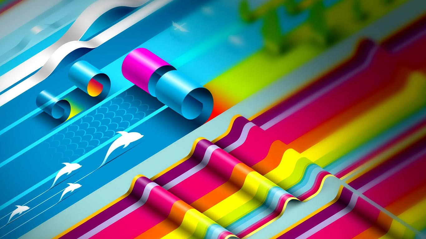 3D Colorful Graphic Design