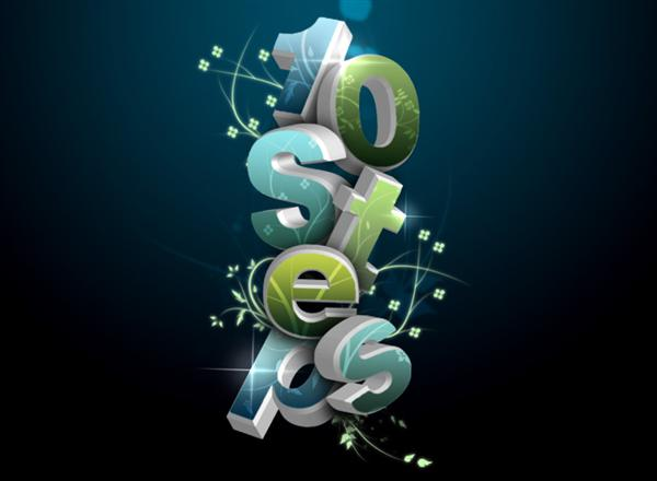 15 Photoshop 3D Text Effects Images