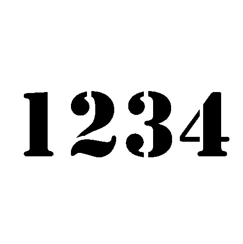 14 House Number Font Styles Images - Different Number Styles Fonts ...