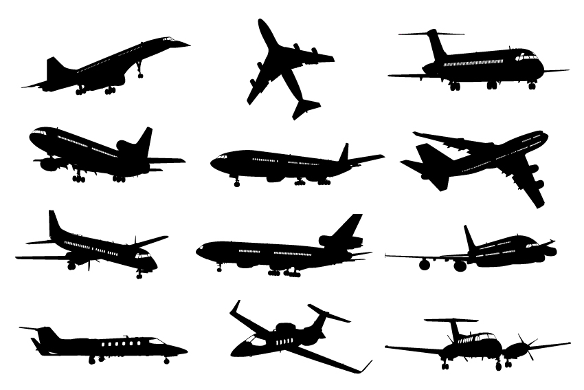 10 Airplane Vector Free Download Images