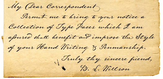 Antique Handwriting Font