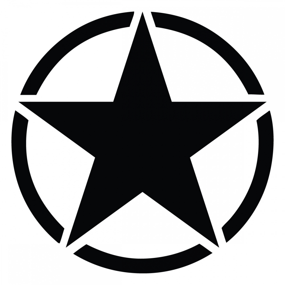 Army Jeep Star Decal