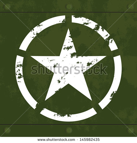 Army Star Logo with Green