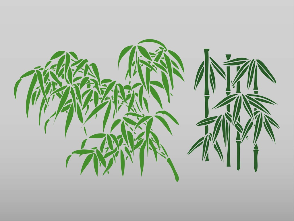 Bamboo Leaves Clip Art