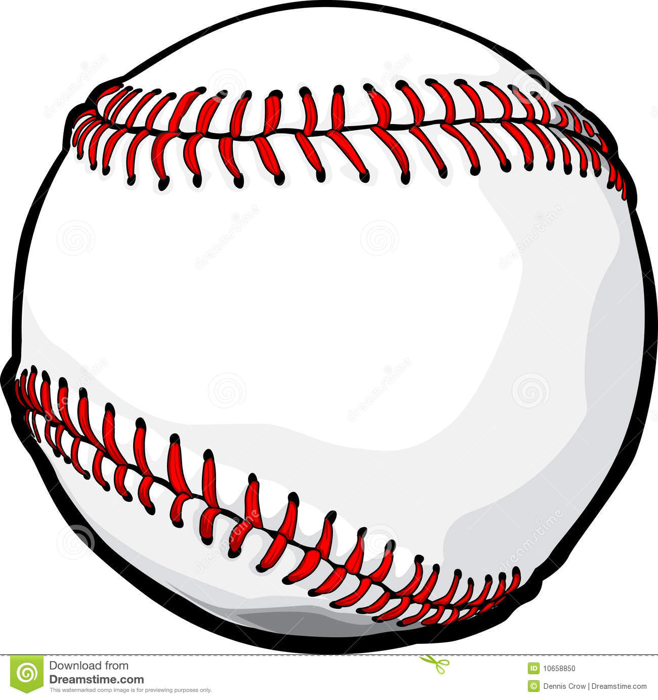 Baseball Ball Vector Clip Art