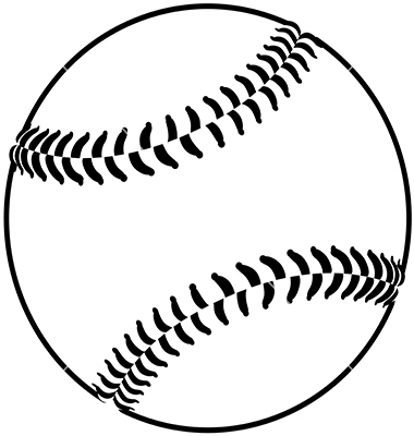 Baseball Outline Clip Art