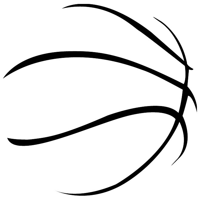 9 Basketball Outline Vector Art Images