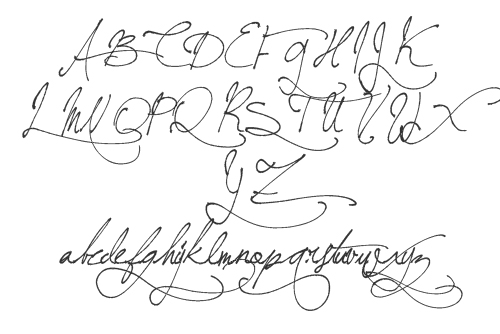 Bees Antique Handwriting Fonts
