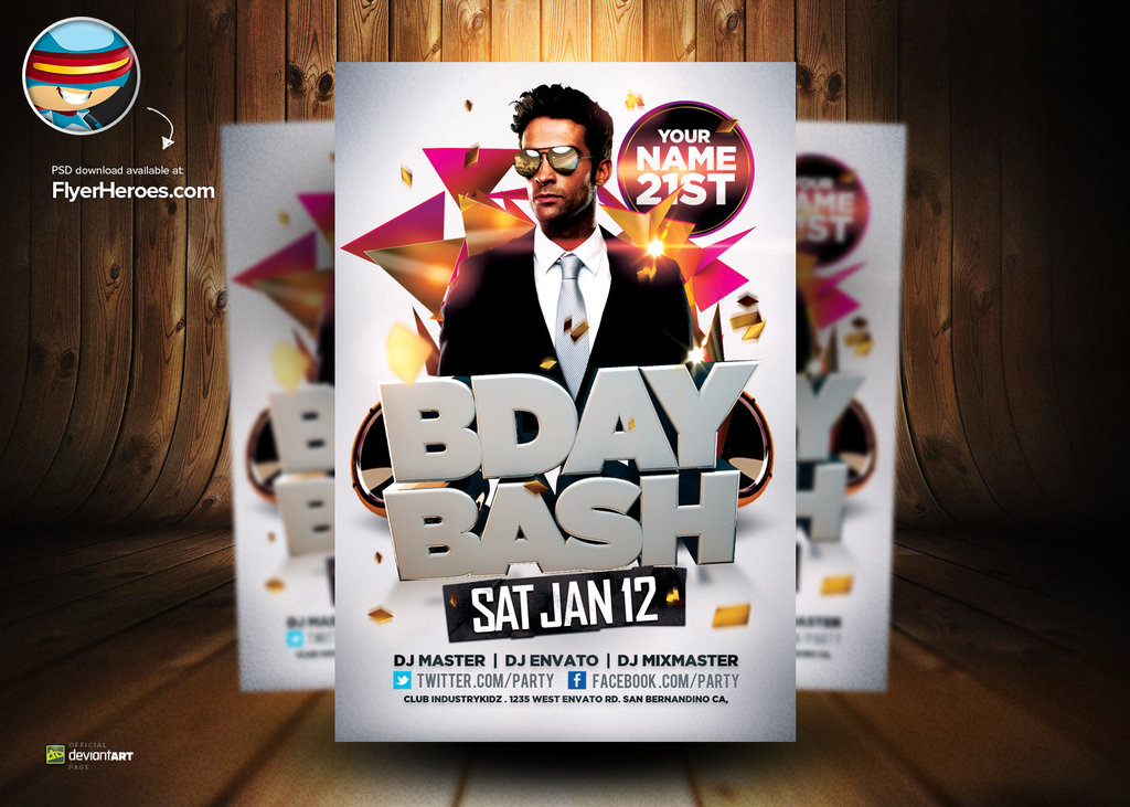 Birthday Flyer Psd Romeondinez