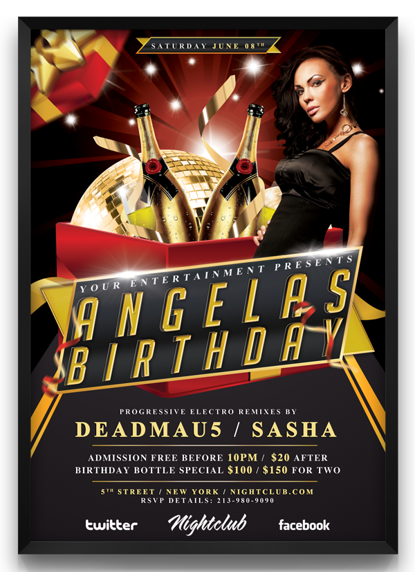 Birthday Party Flyer Template. download the best free birthday ...
