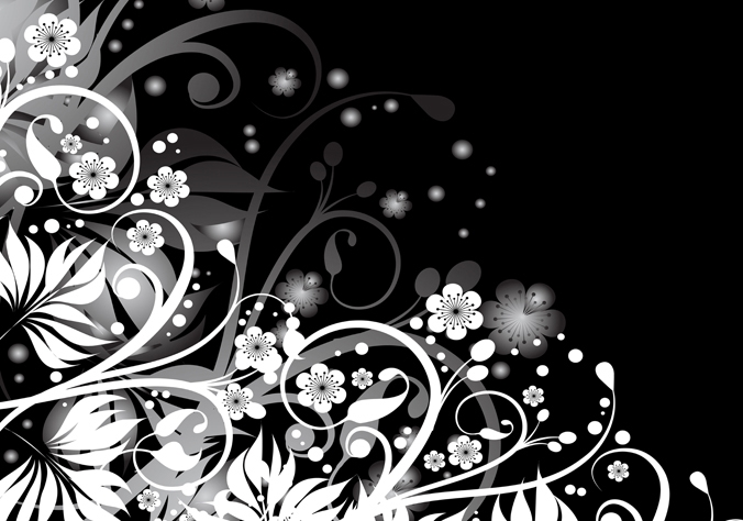 Black and White Abstract Designs