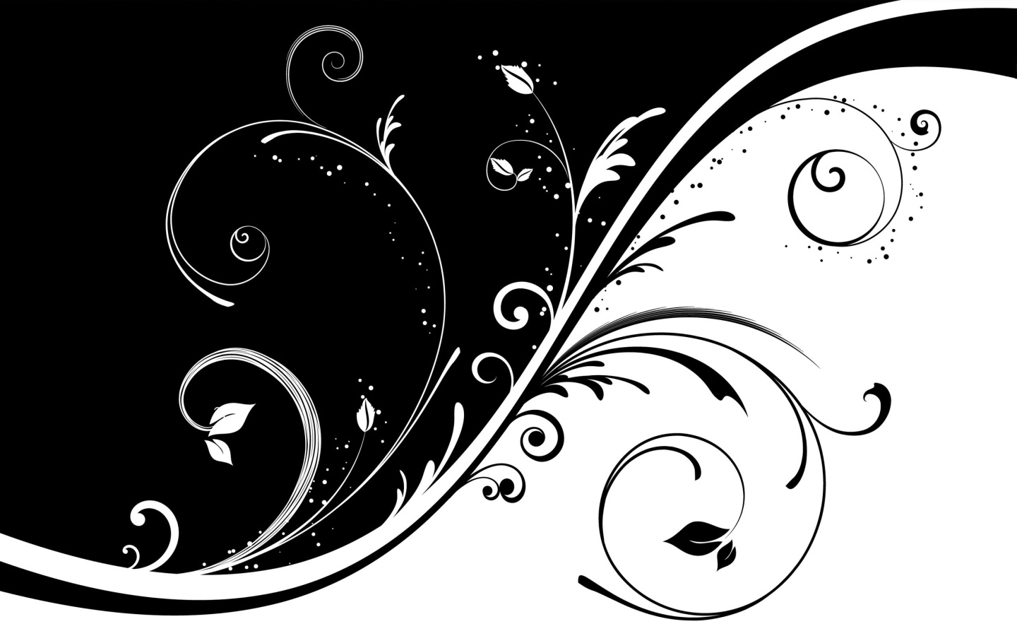 Black and White Abstract Vector