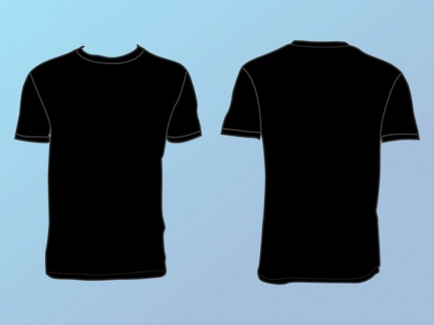 14 Vector T-Shirt Front And Back Images