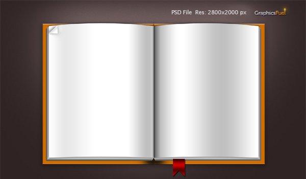 14 Free Blank Book Cover Template PSD Images