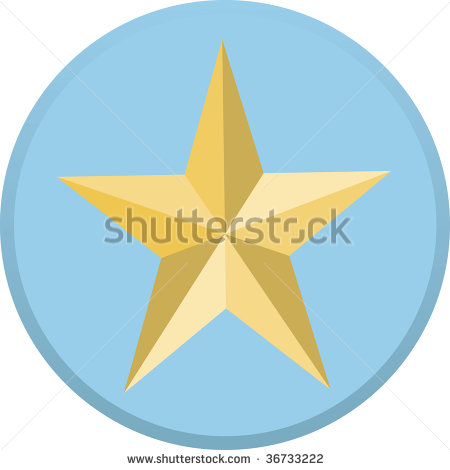 Blue and Gold Military Star