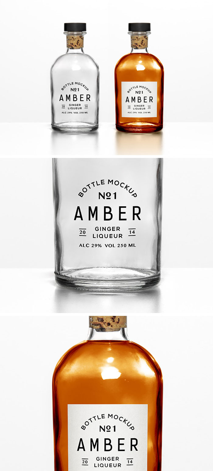 Bottle Mockup Psd Free