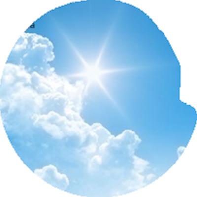 Bright Sun Flare Clouds
