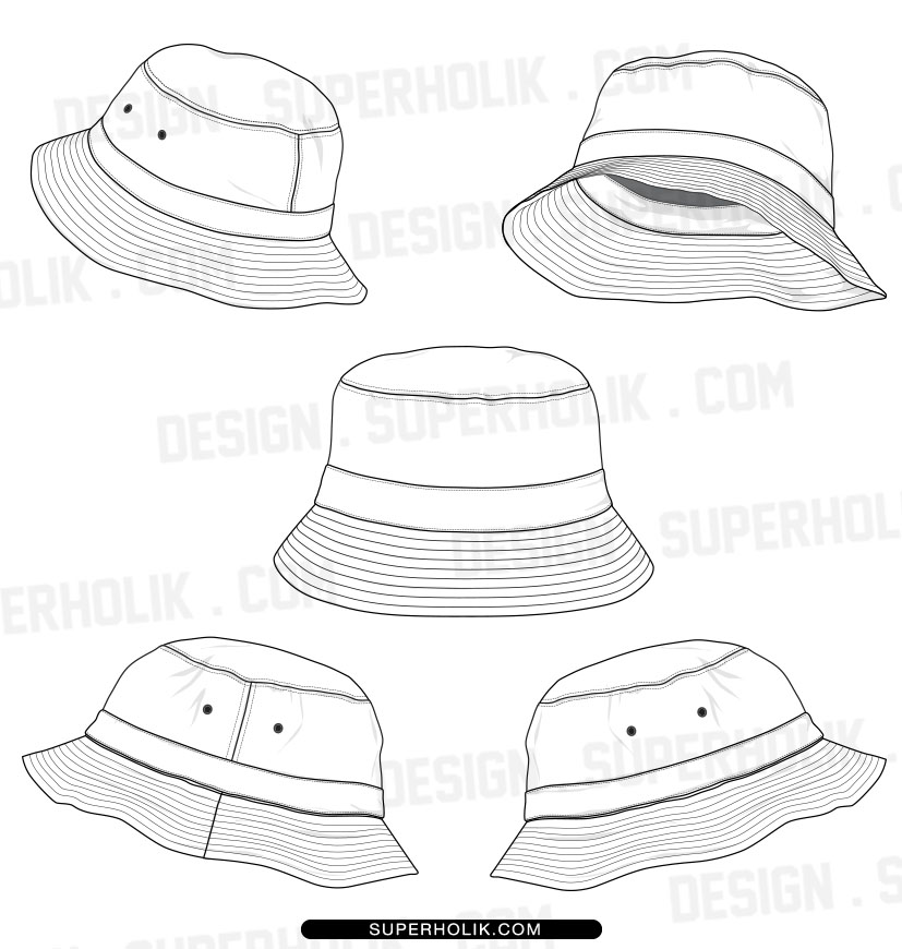 18 Hat Template Vector Images