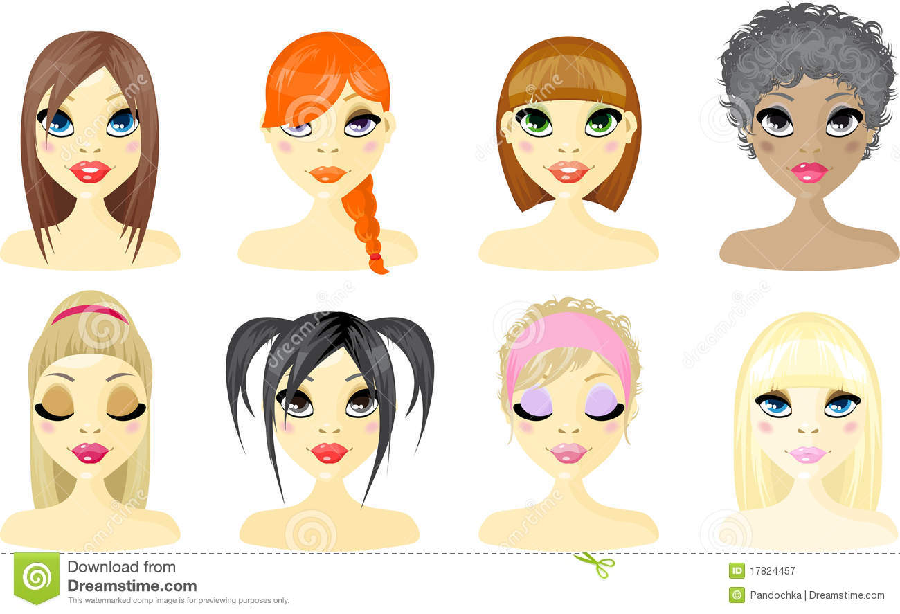12 Woman Business Avatar Icons Images