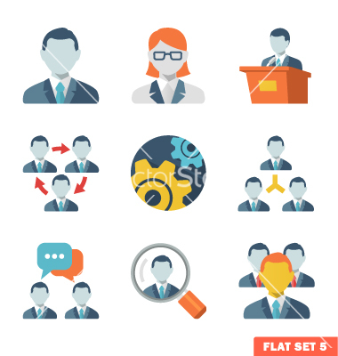 Business Icons Vector Flat